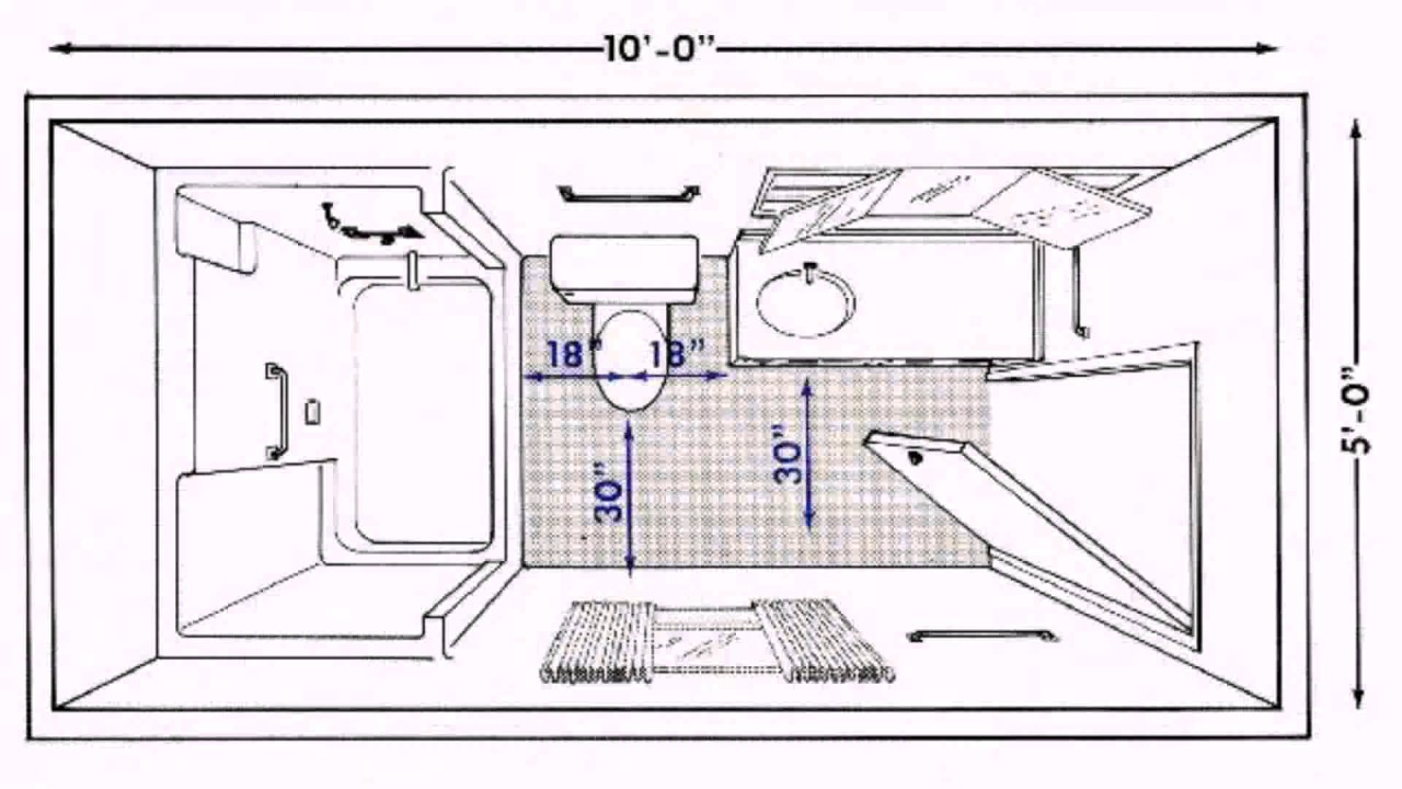 floor plan toilet size 18330