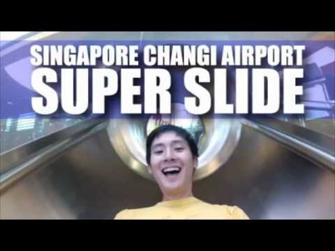 The Fu on the Singapore Airport Super Slide!