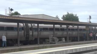 Amtrak Palmetto #90 arriving and departing Richmond, VA