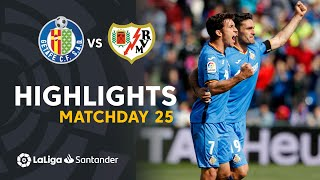 Highlights Getafe CF vs Rayo Vallecano (2-1)