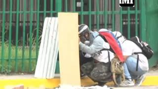 #25J Enfrentamiento entre manifestantes y GNB en  #ElCardenalito #Barquisimeto