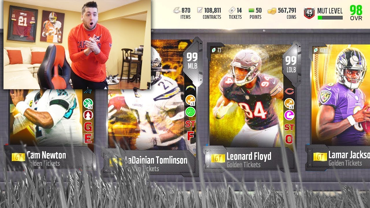 I PULLED 3 GOLDEN TICKETS! Madden 18 Ultimate Team!