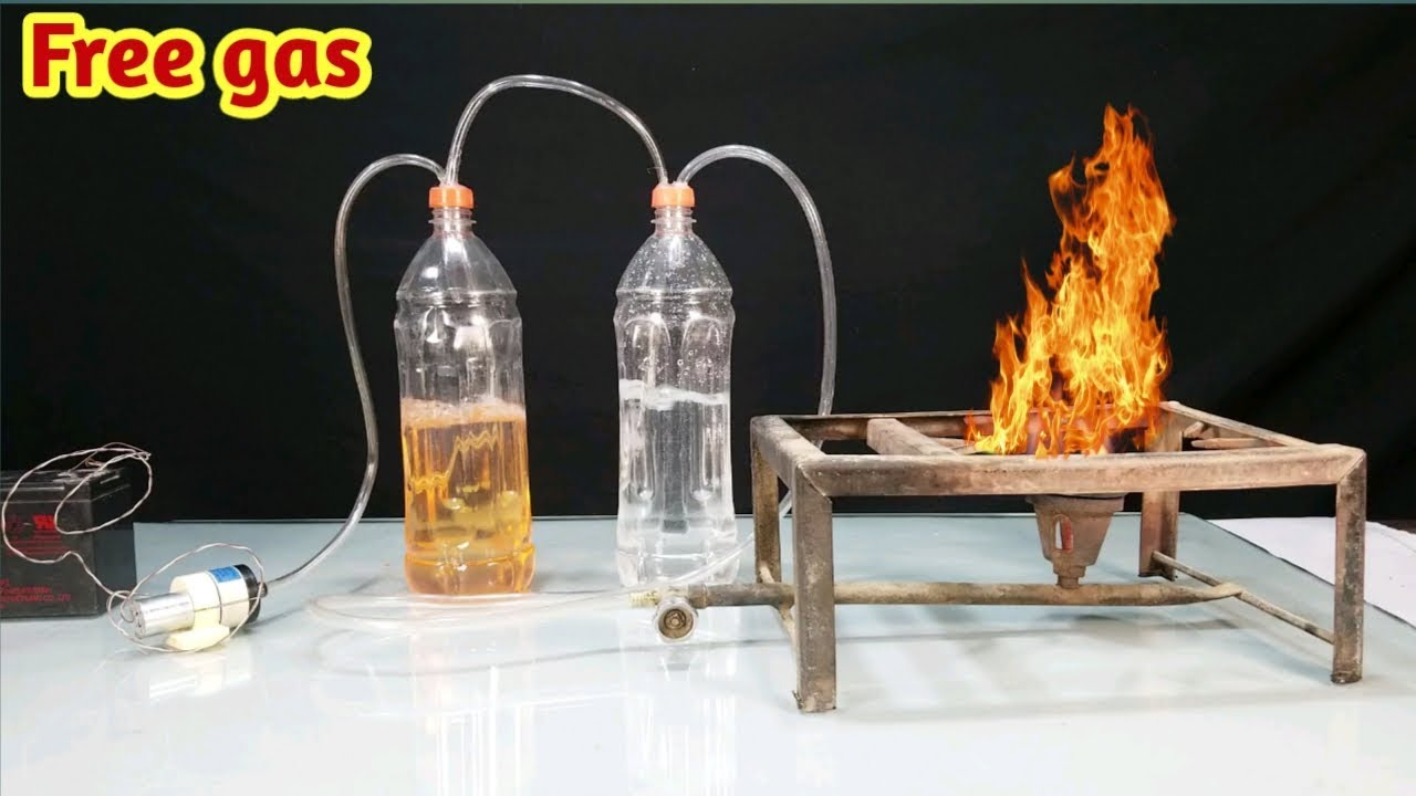 How to make Free Lpg gas at home | petrol and Water |