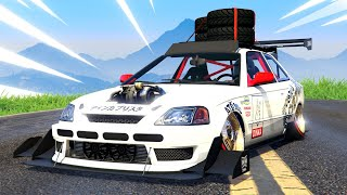 NEW GTA 5 *HONDA CIVIC TYPE R EK9* DLC! (CRAZY MODS)