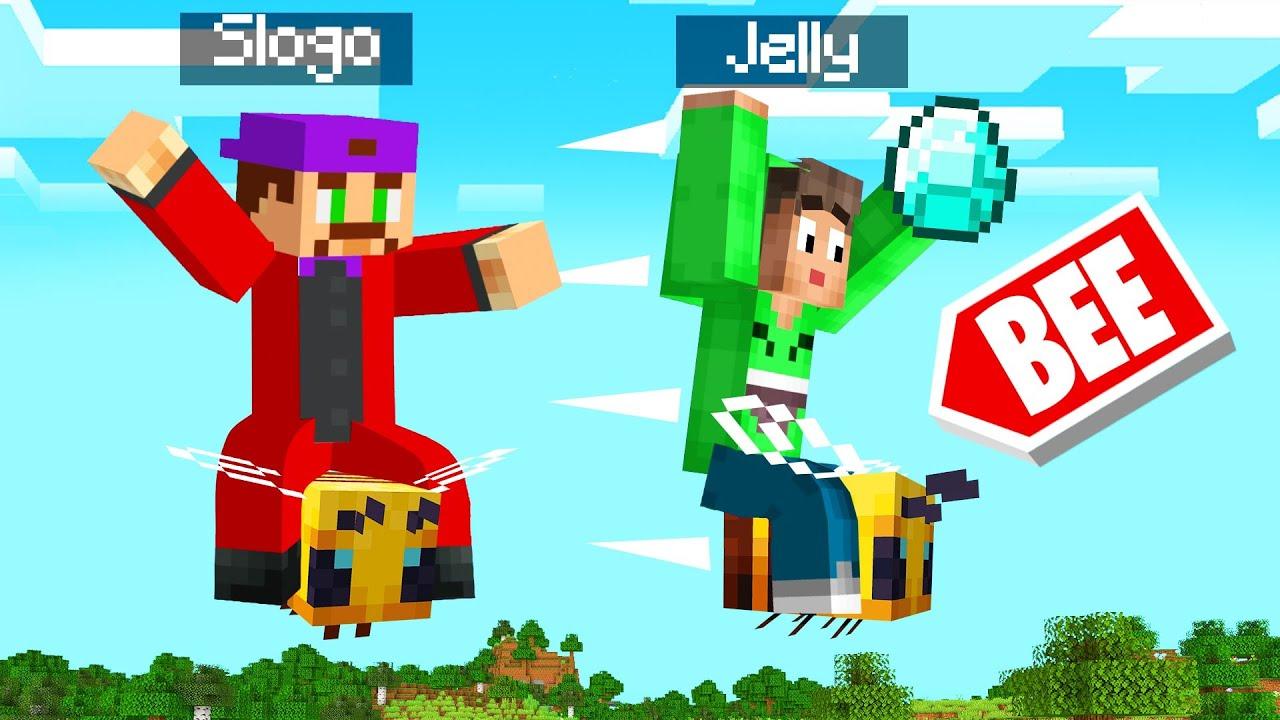 Jelly Race On Bees To Win Diamonds Minecraft Spainagain