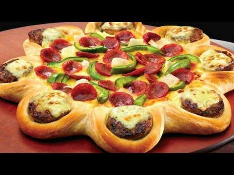 صورة  طريقة عمل البيتزا طريقة عمل بيتزا ايطالى على شكل وردة  🌹 تحفة طريقة عمل البيتزا من يوتيوب