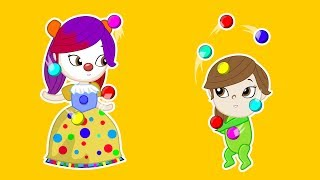 CLOWN PRINCESS LOLA Play Doh Stop Motion and Cartoons For Kids