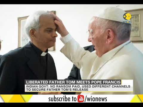 Indian priest Tom Uzhunnalil meets Pope Francis in Vatican City