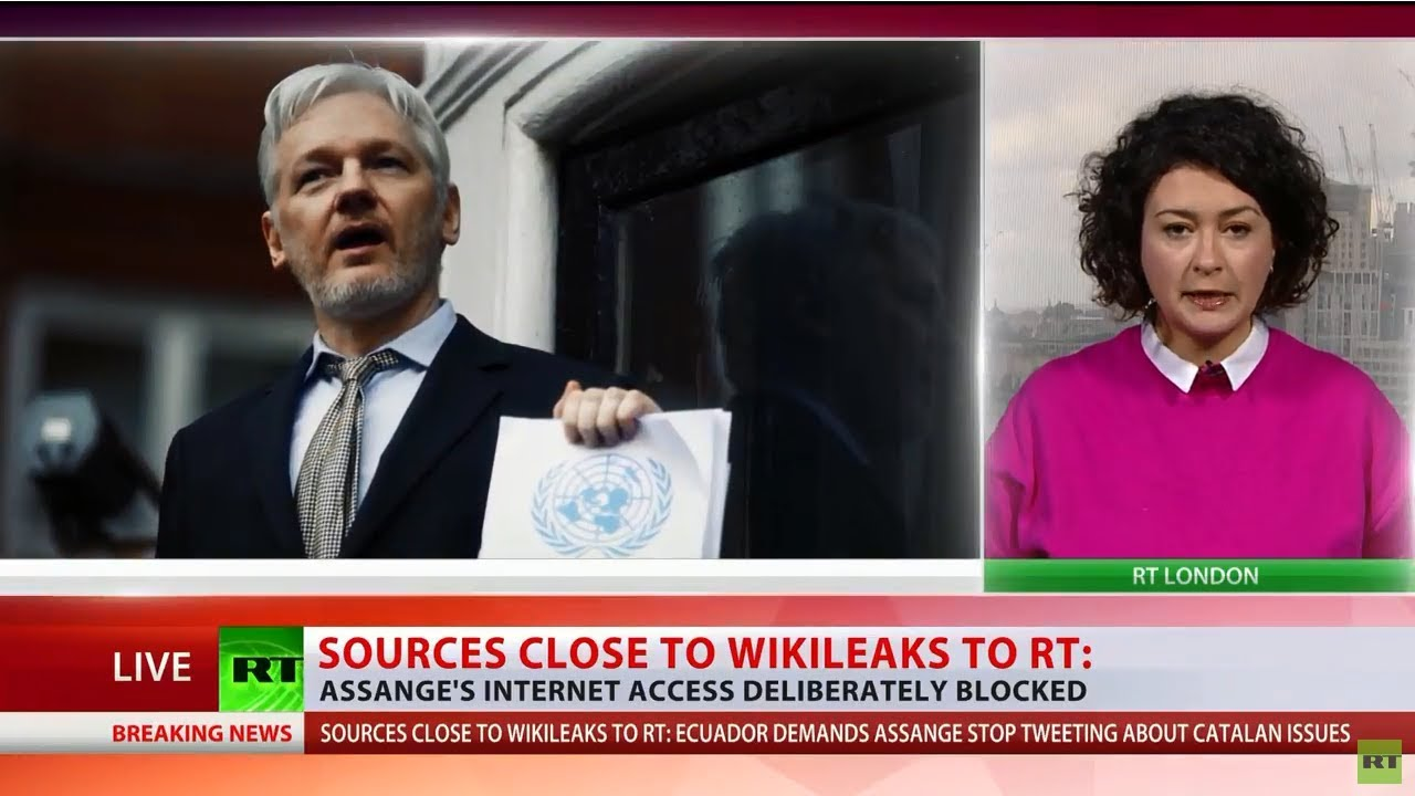Assange internet access blocked over Puigdemont tweet – source close to WikiLeaks