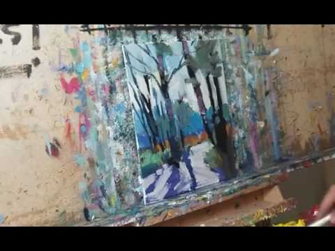 How to Paint a Landscape in Oils – Loose Brush Style – Impressionist by JOSE TRUJILLO