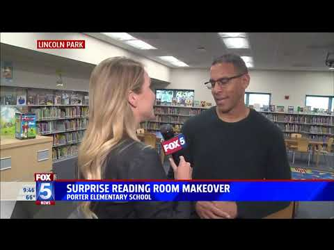 PORTER ELEMENTARY LIBRARY & Toys for Joy Kickoff Fox5 San Diego
