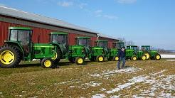 Mertztown, PA farm auction 3/1/13: JD 7810 Tractor