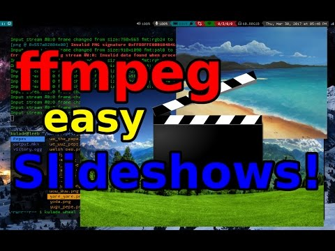 ffmpeg: Making a Picture Slideshow without a Video Editor! - YouTube