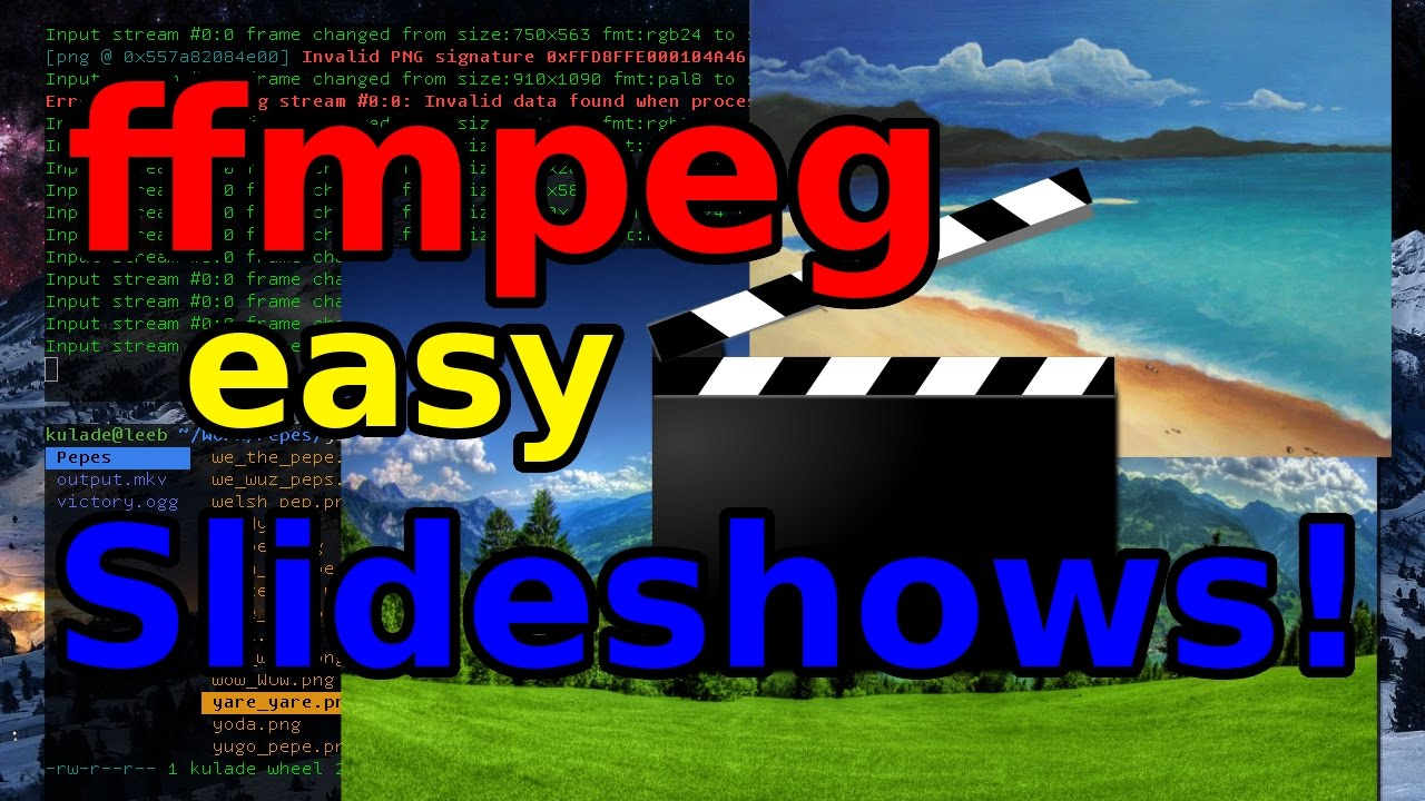 ffmpeg: Making a Picture Slideshow without a Video Editor!