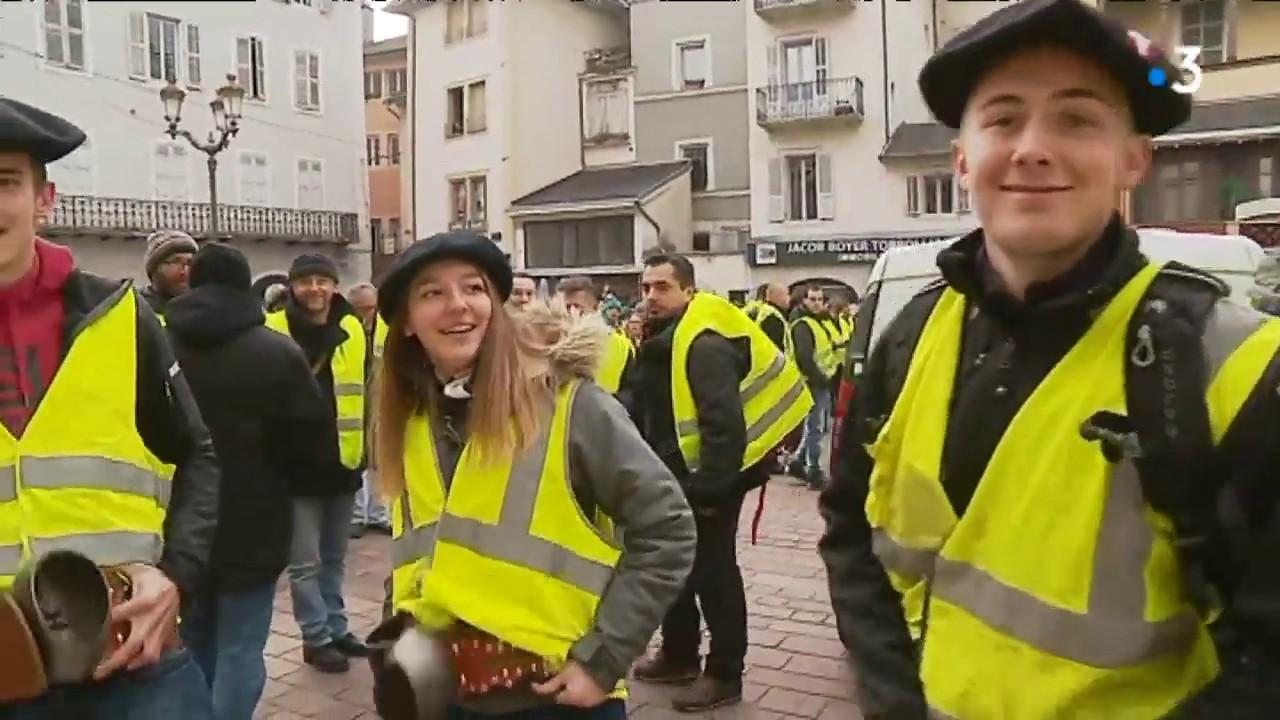 Souffleur De Verre Chambery mobilisation des gilets jaunes à chambéry ce 15 décembre