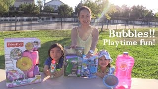 Summer Bubbles Outdoor Playtime! Buzz Lightyear, Thomas the Tank Engine, etc.. 1 of 2