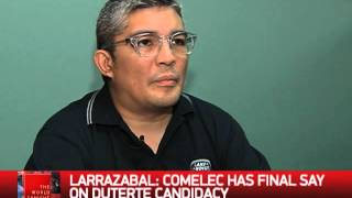 Why Comelec has final say on Duterte candidacy