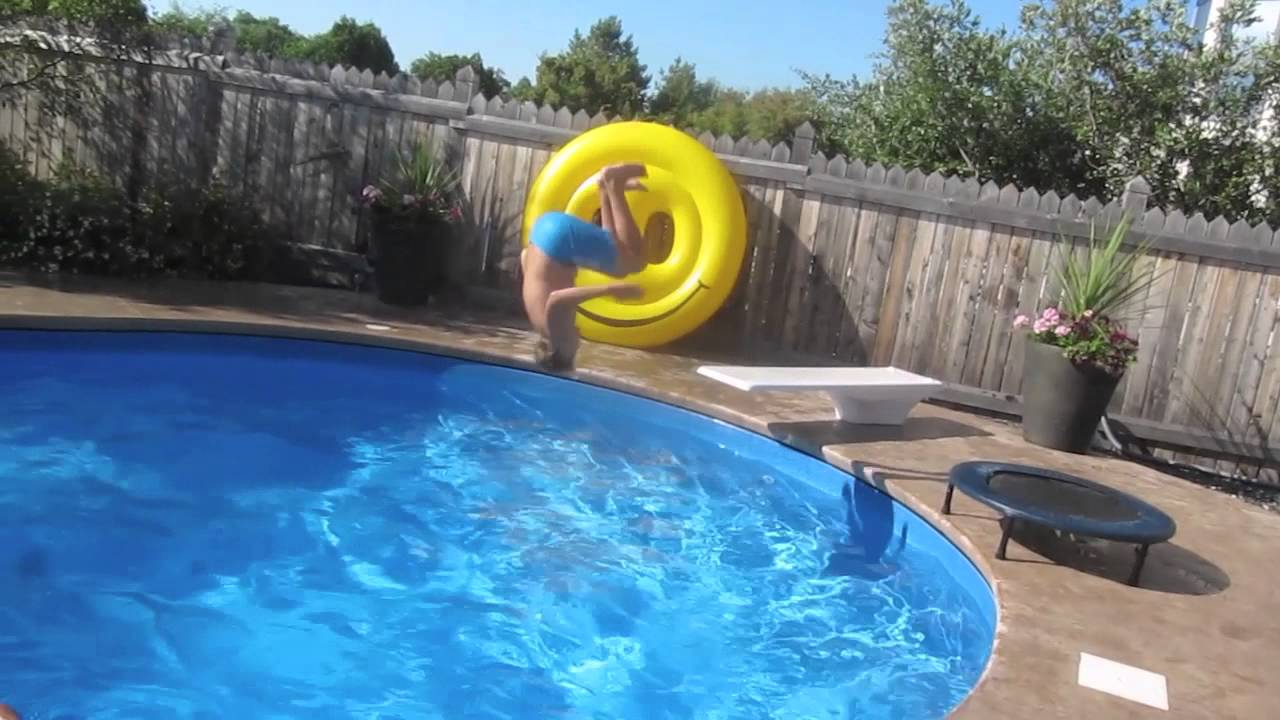 crazy swimming pool tricks 2013