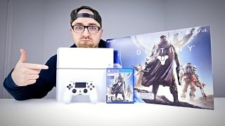 Glacier White PS4 Unboxing (Destiny Bundle)