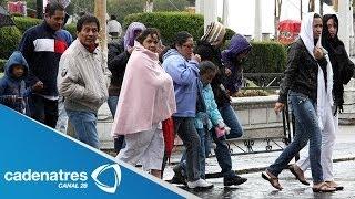 Habitantes de Toluca comienzan a prepararse para las bajas temperaturas