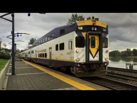 West Coast Express trains near Vancouver, BC