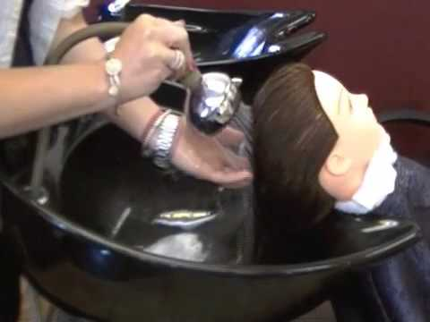 How to Shampoo Hair Properly in Salon Cosmetologist Training