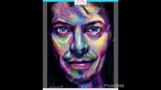 David Bowie Portrait in the French Girls App