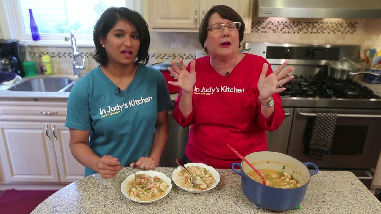 making shrimp creole in judys kitchen video - Judys Kitchen 2
