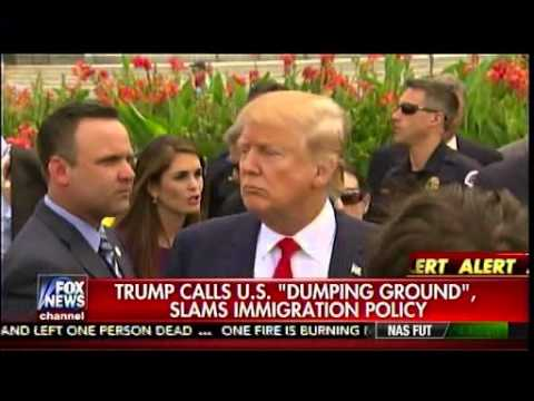 "Trump Calls U.S. ""Dumping Ground"", Slams Immigration Policy - America's Newsroom"