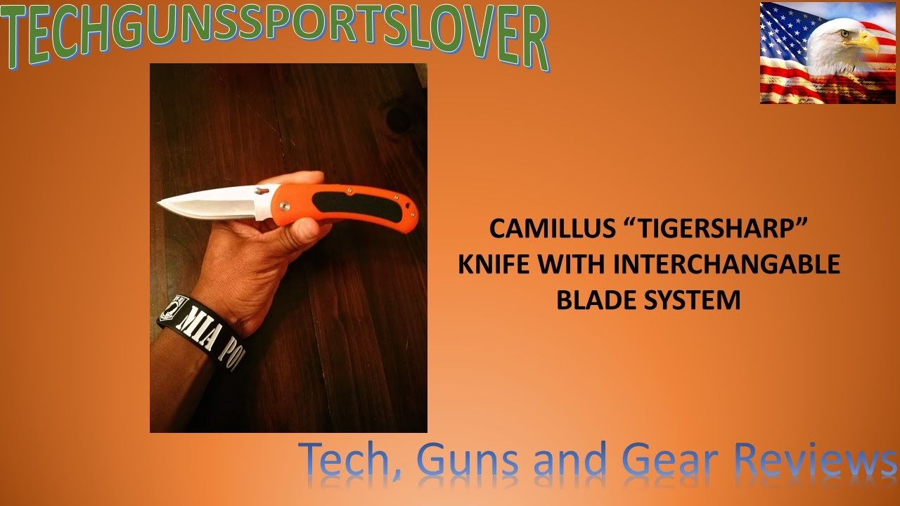 CAMILLUS KNIVES TIGERSHARP KNIFE with Replacement Blade System