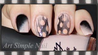 Градиентный маникюр с пером. Перья на ногтях | Feather Nails Tutorial