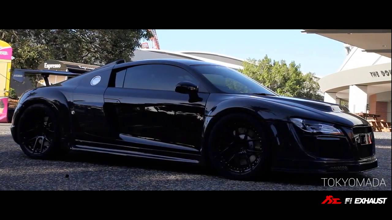 audi r8 w ppi carbon wide body amp fi exhaust loud revs and