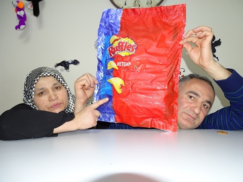MEGA DEV RUFFLES CİPS NASIL YAPILIR !!! DIY RUFFLES HOW TO DO