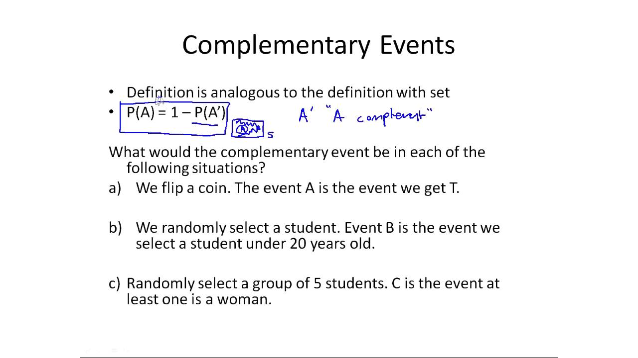 how to work out probability of 2 events