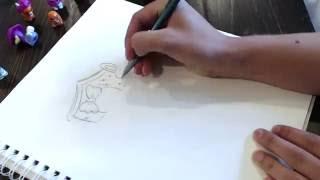 Draw A Squinkie #1 Moo La La wearing the Hoppy