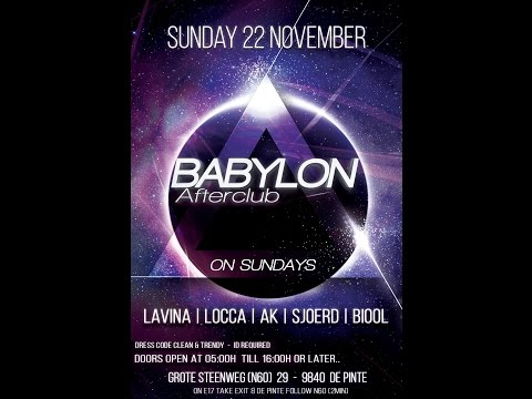 Dj Lavina @ Afterclub Babylon 22-11-15