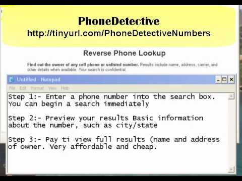 Free Phone Number Lookup - YouTube