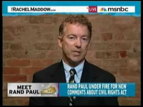 Rand Paul on Rachel Maddow Part 1
