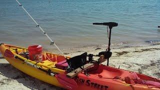how to mount a trolling motor on a saltwater fishing kayak diy