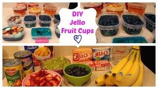 DIY Jello Fruit Cups!