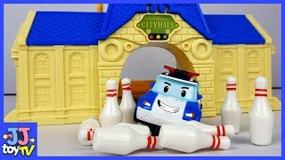 Robocar Poli Plays Bowling With Anpanman Friends! Car Toy & Play For Kids [Jjtoy Tv]