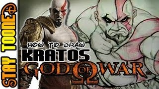 HOW TO DRAW KRATOS GOD OF WAR ADVANCED  STAYTOONED EP 2