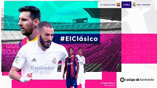 Calentamiento FC Barcelona vs Real Madrid