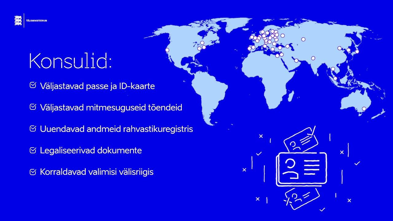 Eesti konsulaarvõrgustik laias maailmas