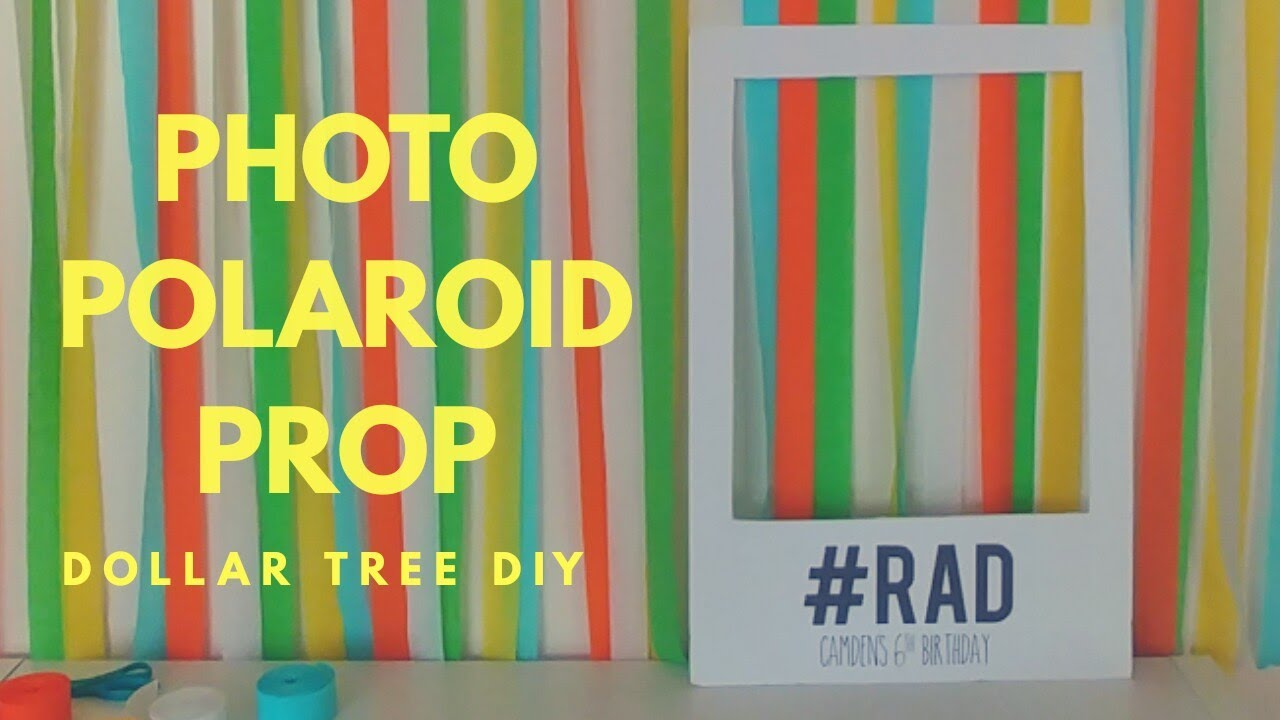 DIY Giant Polaroid Photo Prop | Dollar Tree Craft Party Photo Booth ...