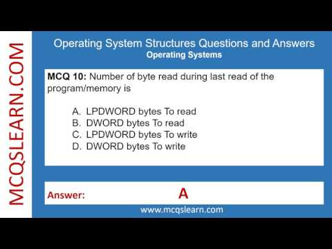 Operating System Structures Questions and Answers - MCQsLearn Free Videos
