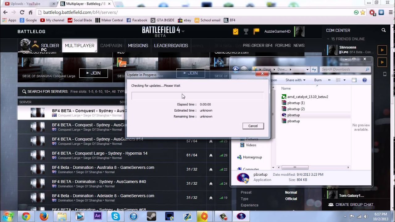 bf4 how to choose server