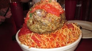 Spaghetti Meatball Challenge Mama's 6lb Hill Of Pasta - Food Challenge