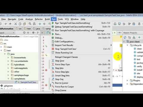 How to run a class in intellij IDEA - YouTube