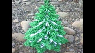 Модульное оригами Елка (пошаговая инструкция)(Удивите друзей и близких сделав им подарок на новогодние праздники в виде бумажной елочки.Бумагу используе..., 2015-01-13T16:02:28.000Z)